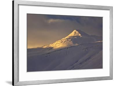 Iceland, Iceland, North-East, Winter, Mountain Landscape on the Öxnadalsheidi, Ring Road-Bernd Rommelt-Framed Photographic Print