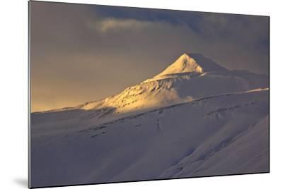 Iceland, Iceland, North-East, Winter, Mountain Landscape on the Öxnadalsheidi, Ring Road-Bernd Rommelt-Mounted Photographic Print