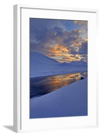 Iceland, West Fjords, Winter Scenery in the Dyrafjördur Close Pingeyri-Bernd Rommelt-Framed Photographic Print