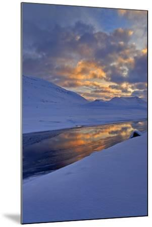Iceland, West Fjords, Winter Scenery in the Dyrafjördur Close Pingeyri-Bernd Rommelt-Mounted Photographic Print