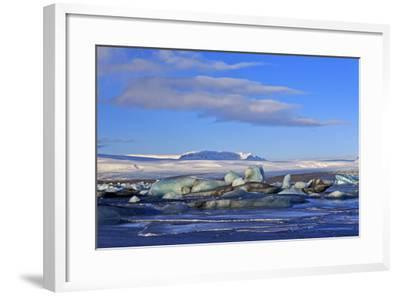 Iceland, Iceland, the South, Breidamerkurjökull, Glacier Ice in the Glacier Lagoon Jökulsarlon-Bernd Rommelt-Framed Photographic Print