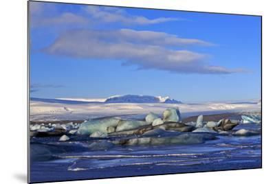 Iceland, Iceland, the South, Breidamerkurjökull, Glacier Ice in the Glacier Lagoon Jökulsarlon-Bernd Rommelt-Mounted Photographic Print