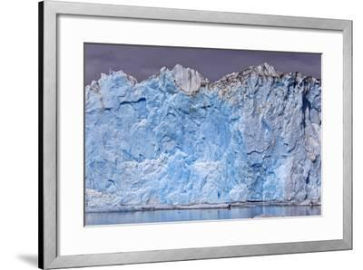North America, the Usa, Alaska, Columbia Glacier, Abnormal Termination Edge-Bernd Rommelt-Framed Photographic Print