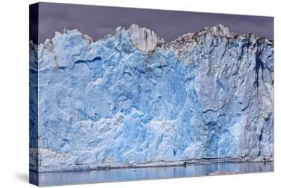 North America, the Usa, Alaska, Columbia Glacier, Abnormal Termination Edge-Bernd Rommelt-Stretched Canvas Print