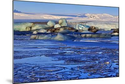 Iceland, Iceland, the South, Breidamerkurjökull, Glacier Ice in the Glacier Lagoon Jökulsarlon-Bernd Rommelt-Mounted Photographic Print