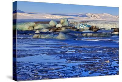 Iceland, Iceland, the South, Breidamerkurjökull, Glacier Ice in the Glacier Lagoon Jökulsarlon-Bernd Rommelt-Stretched Canvas Print