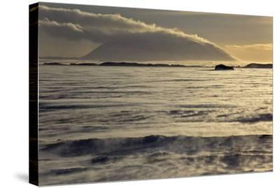 Iceland, Iceland, North-East, Region of Myvatn, View over the Icebound Lake Myvatn-Bernd Rommelt-Stretched Canvas Print