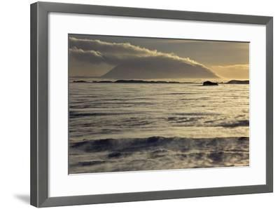 Iceland, Iceland, North-East, Region of Myvatn, View over the Icebound Lake Myvatn-Bernd Rommelt-Framed Photographic Print