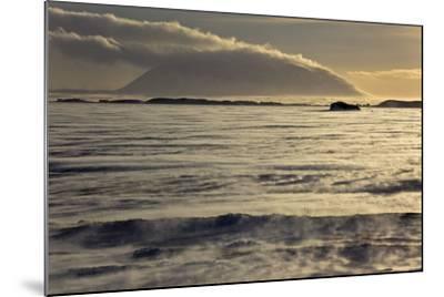 Iceland, Iceland, North-East, Region of Myvatn, View over the Icebound Lake Myvatn-Bernd Rommelt-Mounted Photographic Print