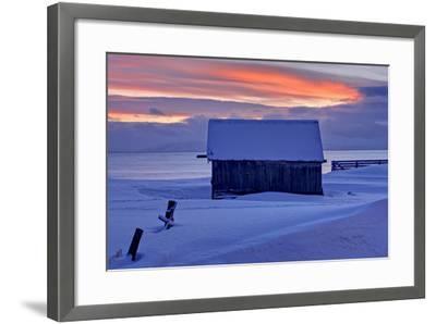 Norway, Finnmark, Eastern Finnmark, Wooden Hut-Bernd Rommelt-Framed Photographic Print
