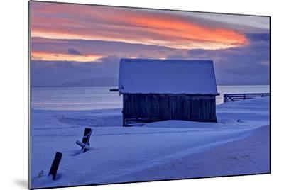 Norway, Finnmark, Eastern Finnmark, Wooden Hut-Bernd Rommelt-Mounted Photographic Print