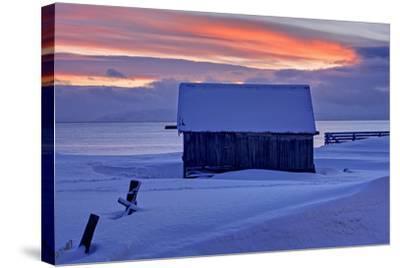 Norway, Finnmark, Eastern Finnmark, Wooden Hut-Bernd Rommelt-Stretched Canvas Print