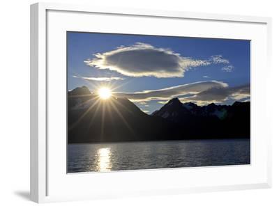 North America, the Usa, Alaska, Resurrection Bay Close Seward, Sunrise,-Bernd Rommelt-Framed Photographic Print