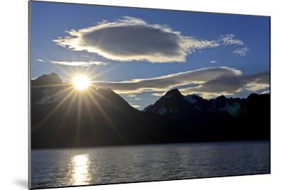 North America, the Usa, Alaska, Resurrection Bay Close Seward, Sunrise,-Bernd Rommelt-Mounted Photographic Print