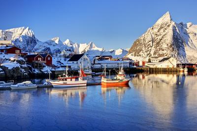 Norway, Lofoten, Moskenesoya, Hamnoy-Bernd Rommelt-Framed Photographic Print