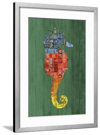 Seahorse-Design Turnpike-Framed Giclee Print