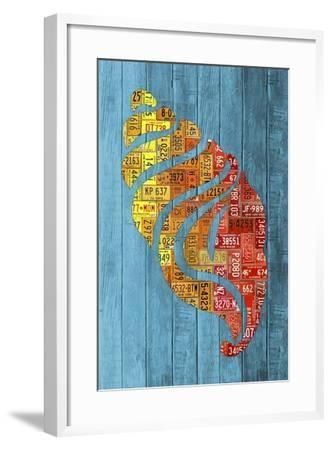 Seashell-Design Turnpike-Framed Giclee Print