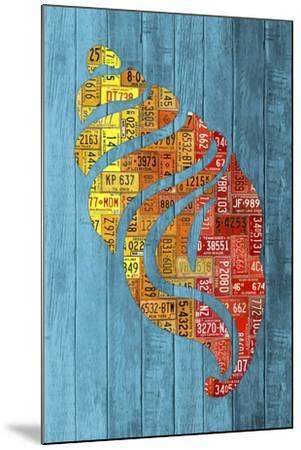 Seashell-Design Turnpike-Mounted Giclee Print