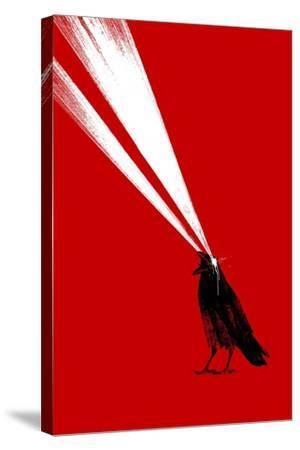 Laser Crow-Robert Farkas-Stretched Canvas Print
