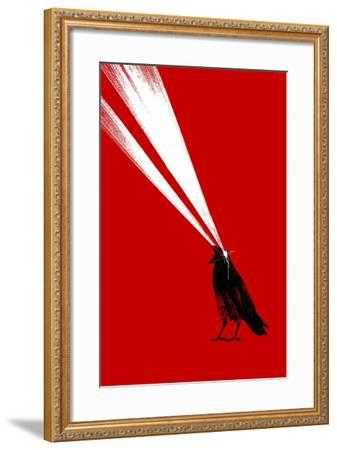 Laser Crow-Robert Farkas-Framed Giclee Print