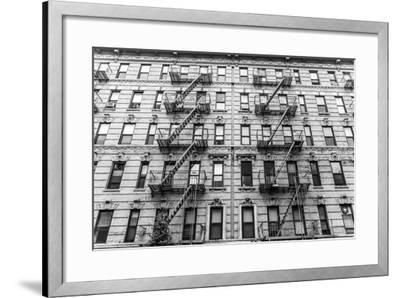 A Fire Escape of an Apartment Building in New York City-kasto-Framed Photographic Print