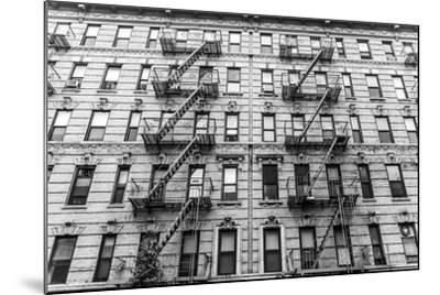 A Fire Escape of an Apartment Building in New York City-kasto-Mounted Photographic Print