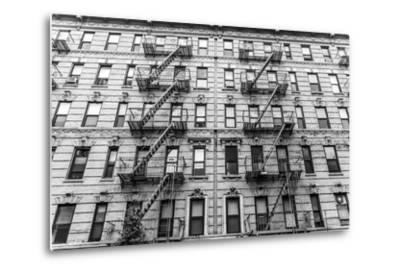A Fire Escape of an Apartment Building in New York City-kasto-Metal Print
