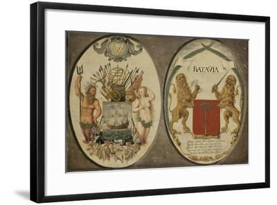 The Arms of the Dutch East India Company and of the Town of Batavia, 1651-Jeronimus Becx-Framed Giclee Print