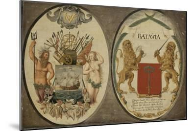 The Arms of the Dutch East India Company and of the Town of Batavia, 1651-Jeronimus Becx-Mounted Giclee Print