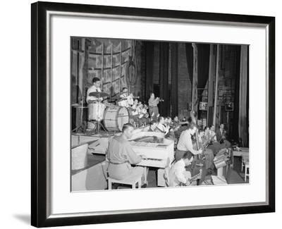 Stan Kenton, Laurindo Almeida, Eddie Safranski, Bob Cooper, Art Pepper, Shelly Manne et al-William Paul Gottlieb-Framed Photographic Print