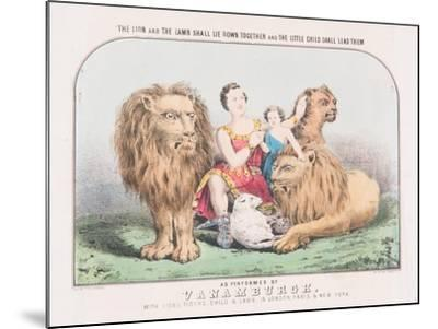 The Lion and the Lamb Shall Lie Down Together and The Little Child Shall Lead Them, c.1840-T. W. Strong-Mounted Giclee Print