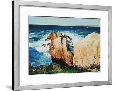 Cliff at La Coruna, Spain-Anthony Fandino-Framed Giclee Print
