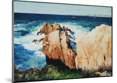 Cliff at La Coruna, Spain-Anthony Fandino-Mounted Giclee Print