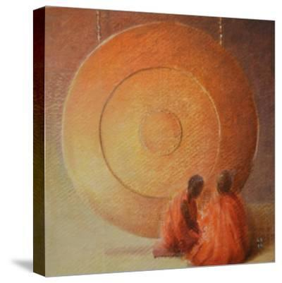 Monk, Gong and Pupil-Lincoln Seligman-Stretched Canvas Print