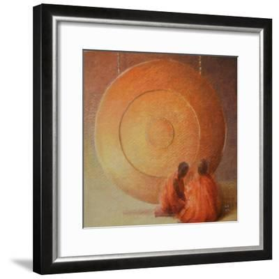 Monk, Gong and Pupil-Lincoln Seligman-Framed Giclee Print