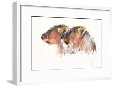 Sisters, Etosha, 2017,-Mark Adlington-Framed Giclee Print