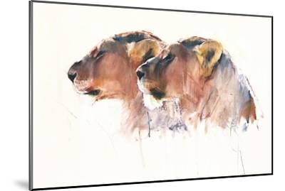 Sisters, Etosha, 2017,-Mark Adlington-Mounted Giclee Print