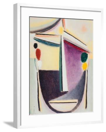 Abstract Head: Black-Yellow-Purple, c.1922-Alexej Von Jawlensky-Framed Giclee Print