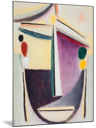 Abstract Head: Black-Yellow-Purple, c.1922-Alexej Von Jawlensky-Mounted Giclee Print
