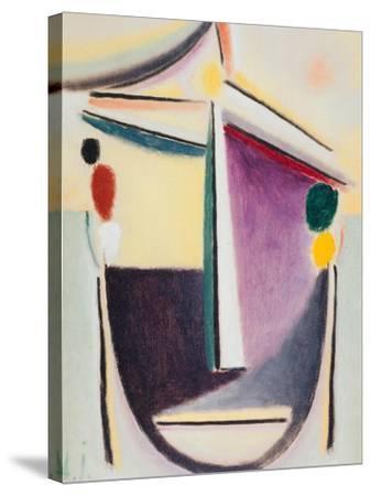 Abstract Head: Black-Yellow-Purple, c.1922-Alexej Von Jawlensky-Stretched Canvas Print
