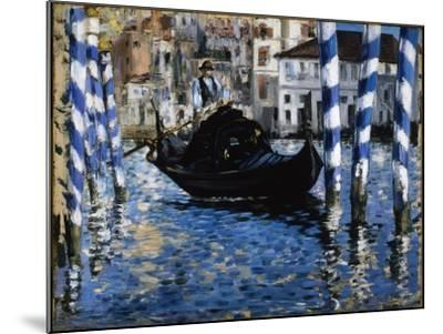 The Grand Canal, Venice, 1875-Edouard Manet-Mounted Giclee Print