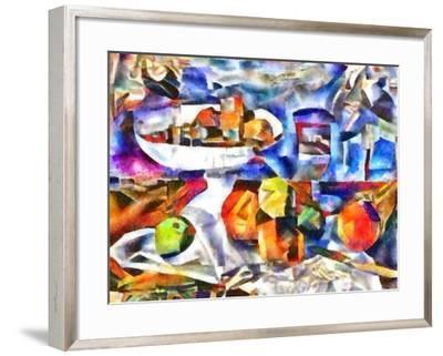 fruits and glass ,2017-Alex Caminker-Framed Giclee Print