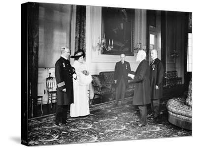 Captain Rostron of the Carpathia is presented with the American Cross of Honour, 1913-Harris & Ewing-Stretched Canvas Print