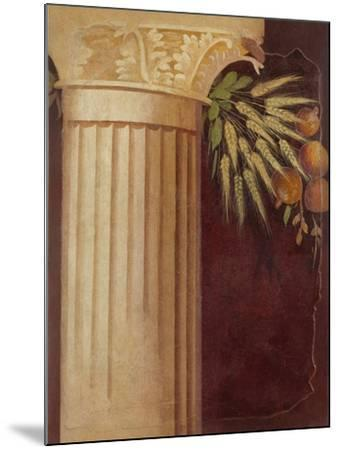 Wall painting fragment from the peristyle of a Villa at Boscoreale, c.50–40 B.C.-Roman Republican Period-Mounted Giclee Print
