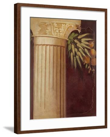 Wall painting fragment from the peristyle of a Villa at Boscoreale, c.50–40 B.C.-Roman Republican Period-Framed Giclee Print