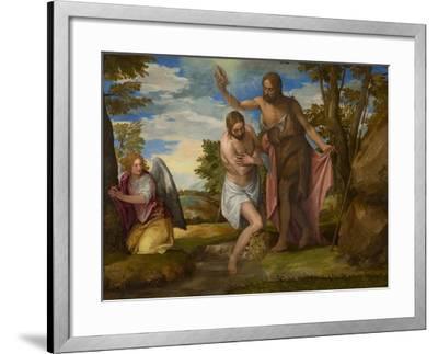 The Baptism of Christ, c.1550-1560-Veronese-Framed Giclee Print