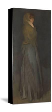 'Arrangement in Yellow and Gray': Effie Deans, c.1876-78-James Abbott McNeill Whistler-Stretched Canvas Print