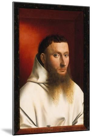 Portrait of a Carthusian, 1446-Petrus Christus-Mounted Giclee Print