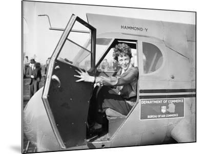Amelia Earhart in an aeroplane, 1936-Harris & Ewing-Mounted Photographic Print