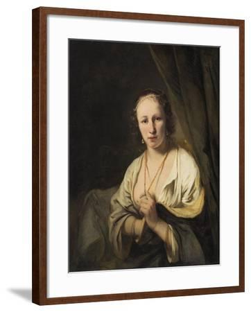Woman with Pearls in her Hair, c.1653-Ferdinand Bol-Framed Giclee Print